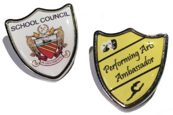 31x34mm premium silver shield badge